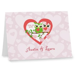 Valentine Owls Note cards (Personalized)