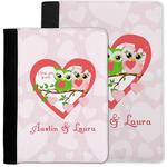 Valentine Owls Notebook Padfolio w/ Couple's Names