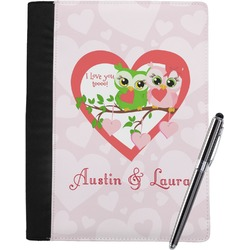 Valentine Owls Notebook Padfolio (Personalized)