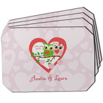 Valentine Owls Dining Table Mat - Octagon w/ Couple's Names