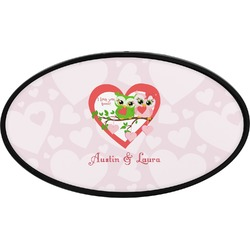 Valentine Owls Oval Trailer Hitch Cover (Personalized)