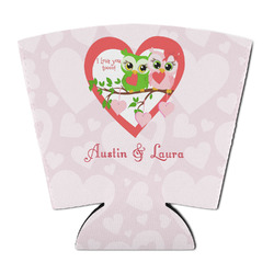 Valentine Owls Party Cup Sleeve (Personalized)