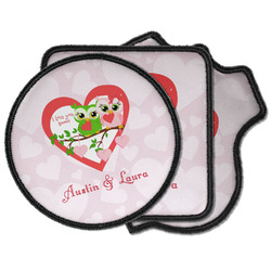 Valentine Owls Iron on Patches (Personalized)