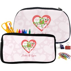 Valentine Owls Pencil / School Supplies Bag (Personalized)