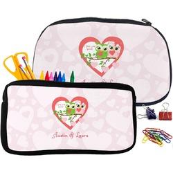 Valentine Owls Pencil / School Supplies Bag (Personalized)