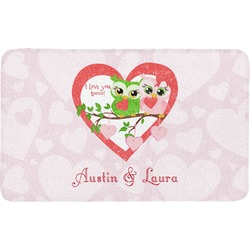 Valentine Owls Bath Mat (Personalized)