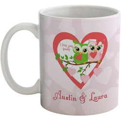 Valentine Owls Coffee Mug (Personalized)
