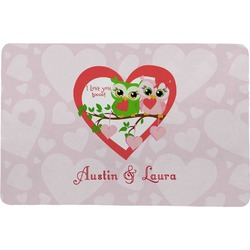 Valentine Owls Comfort Mat (Personalized)