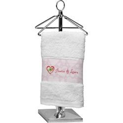Valentine Owls Cotton Finger Tip Towel (Personalized)