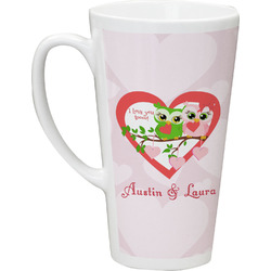 Valentine Owls Latte Mug (Personalized)