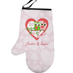 Valentine Owls Left Oven Mitt (Personalized)