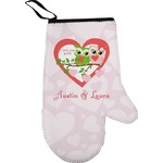 Valentine Owls Right Oven Mitt (Personalized)