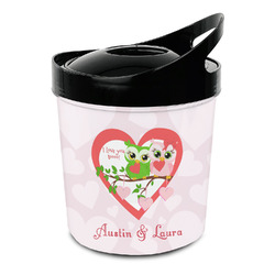 Valentine Owls Plastic Ice Bucket (Personalized)