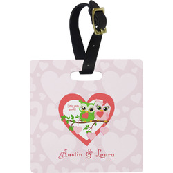 Valentine Owls Luggage Tags (Personalized)