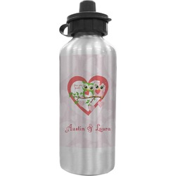 Valentine Owls Water Bottle (Personalized)
