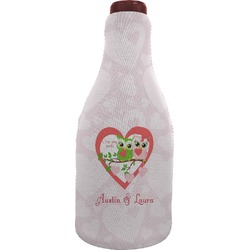Valentine Owls Wine Sleeve (Personalized)
