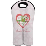 Valentine Owls Wine Tote Bag (2 Bottles) (Personalized)
