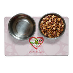 Valentine Owls Dog Food Mat (Personalized)