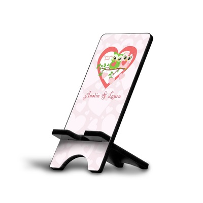 Valentine Owls Cell Phone Stands (Personalized)
