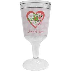Valentine Owls Wine Tumbler - 11 oz Plastic (Personalized)