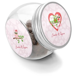 Valentine Owls Puppy Treat Jar (Personalized)
