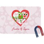 Valentine Owls Rectangular Fridge Magnet (Personalized)