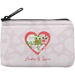 Valentine Owls Rectangular Coin Purse (Personalized)