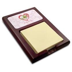 Valentine Owls Red Mahogany Sticky Note Holder (Personalized)