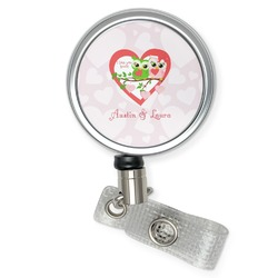 Valentine Owls Retractable Badge Reel (Personalized)