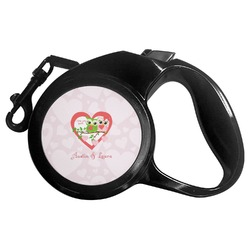 Valentine Owls Retractable Dog Leash (Personalized)