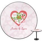 Valentine Owls Round Table (Personalized)