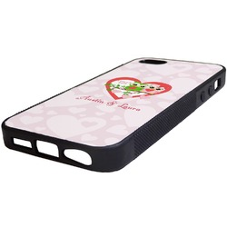 Valentine Owls Rubber iPhone 5/5S Phone Case (Personalized)