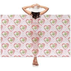 Valentine Owls Sheer Sarong (Personalized)
