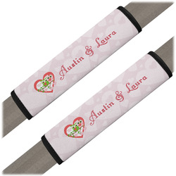 Valentine Owls Seat Belt Covers (Set of 2) (Personalized)
