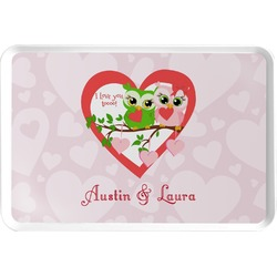 Valentine Owls Serving Tray (Personalized)