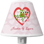 Valentine Owls Shade Night Light (Personalized)