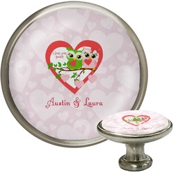 Valentine Owls Cabinet Knobs (Personalized)