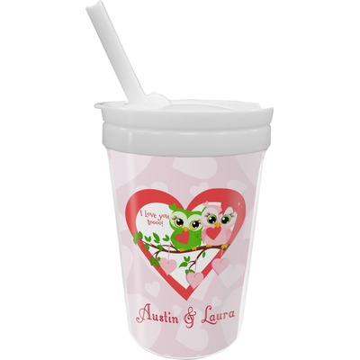 Valentine Owls Sippy Cup with Straw (Personalized)