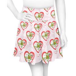 Valentine Owls Skater Skirt (Personalized)