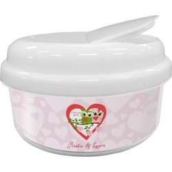 Valentine Owls Snack Container (Personalized)