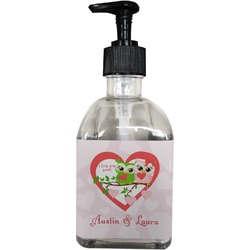 Valentine Owls Soap/Lotion Dispenser (Glass) (Personalized)