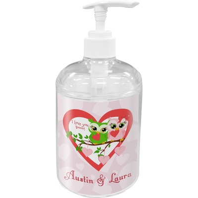 Valentine Owls Soap / Lotion Dispenser (Personalized)