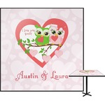 Valentine Owls Square Table Top (Personalized)