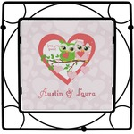 Valentine Owls Square Trivet (Personalized)