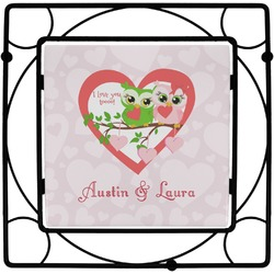 Valentine Owls Square Trivet (Personalized)