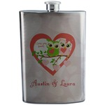 Valentine Owls Stainless Steel Flask (Personalized)