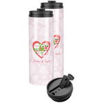 Valentine Owls Stainless Steel Skinny Tumbler (Personalized)