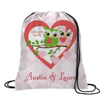 Valentine Owls Drawstring Backpack (Personalized)