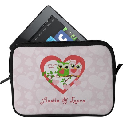 Valentine Owls Tablet Case / Sleeve (Personalized)
