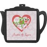 Valentine Owls Teapot Trivet (Personalized)